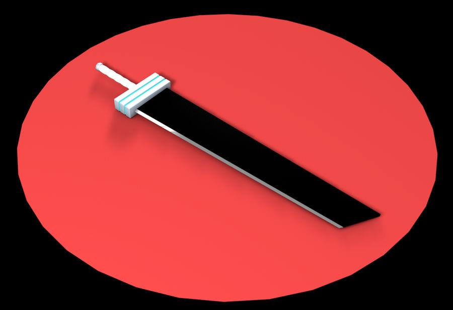 CLOUD SWORD royalty-free 3d model - Preview no. 4