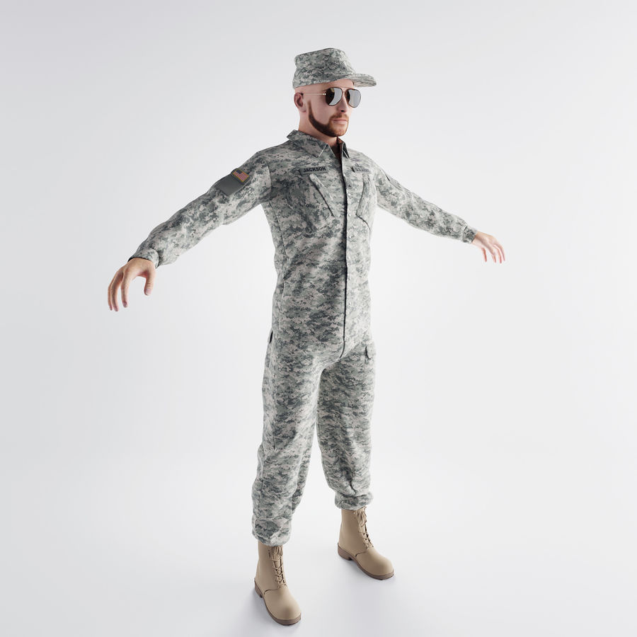 ABD askeri royalty-free 3d model - Preview no. 3