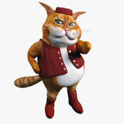 Cartoon fette Katze 3d model