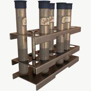 Vial Stand en Vial PBR laag poly 3d model