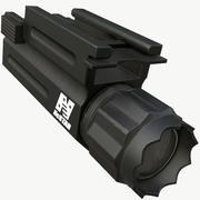 Broń Latarka PBR Gotowy do gry 3d model