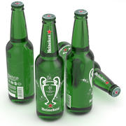 Beer Bottle Heineken Champions League 500ml 3d model