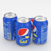 Canette de boisson Pepsi Twist 330ml 3d model