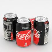 Напиток Кока-Кола Ноль 330мл 3d model
