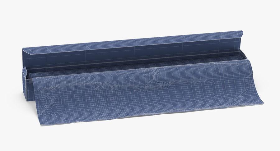 Aluminium Foil Box Open royalty-free 3d model - Preview no. 11
