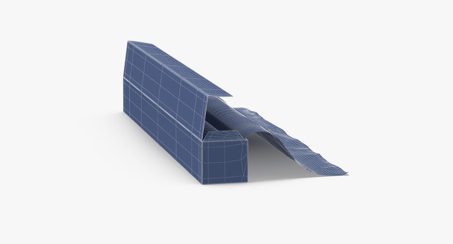 Aluminium Foil Box Open royalty-free 3d model - Preview no. 15