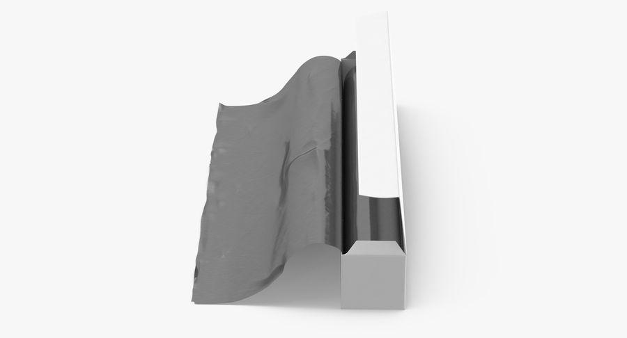 Aluminium Foil Box Open royalty-free 3d model - Preview no. 5