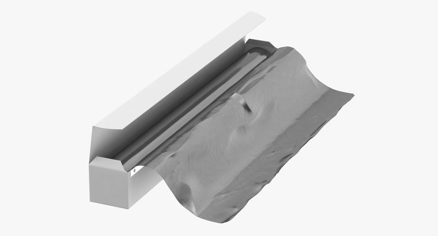 Aluminium Foil Box Open royalty-free 3d model - Preview no. 2