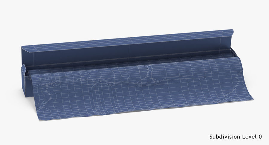 Aluminium Foil Box Open royalty-free 3d model - Preview no. 18