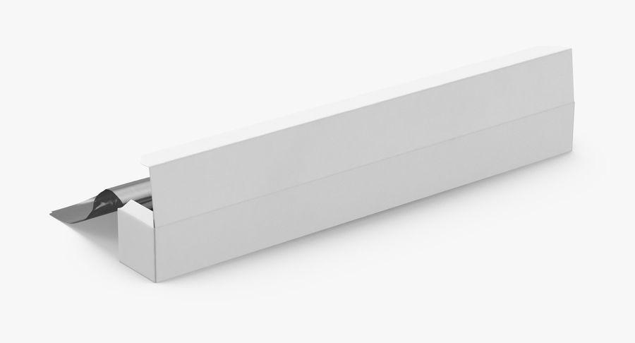 Aluminium Foil Box Open royalty-free 3d model - Preview no. 6