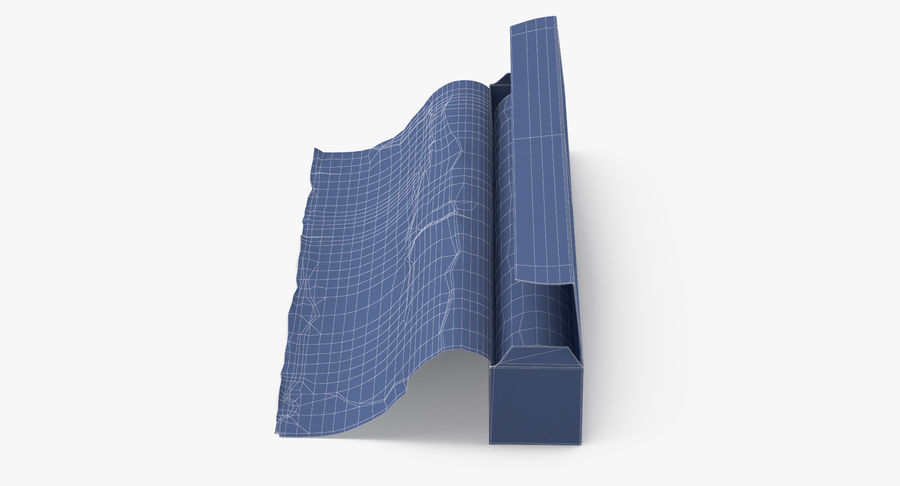 Aluminium Foil Box Open royalty-free 3d model - Preview no. 12