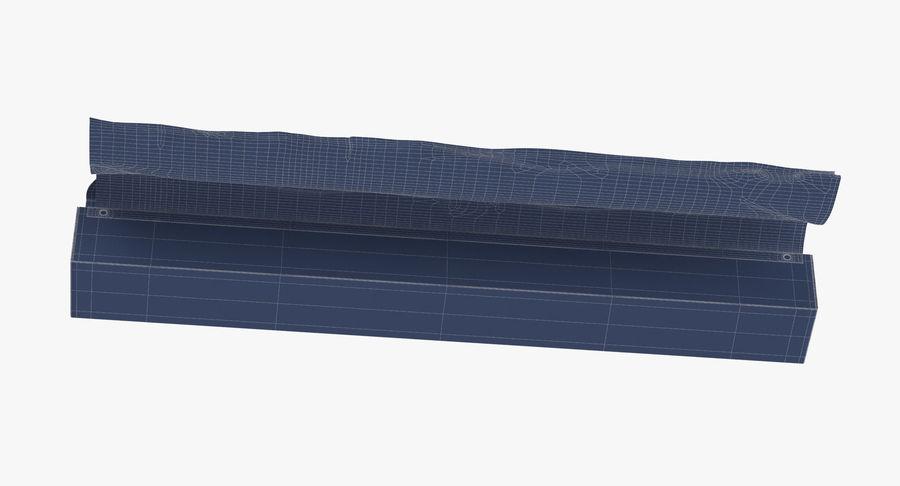 Aluminium Foil Box Open royalty-free 3d model - Preview no. 17