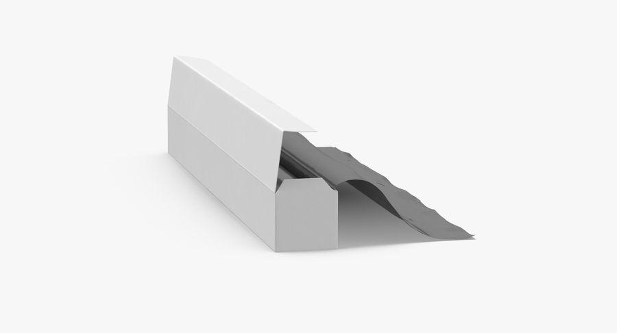 Aluminium Foil Box Open royalty-free 3d model - Preview no. 7