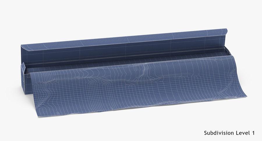 Aluminium Foil Box Open royalty-free 3d model - Preview no. 19