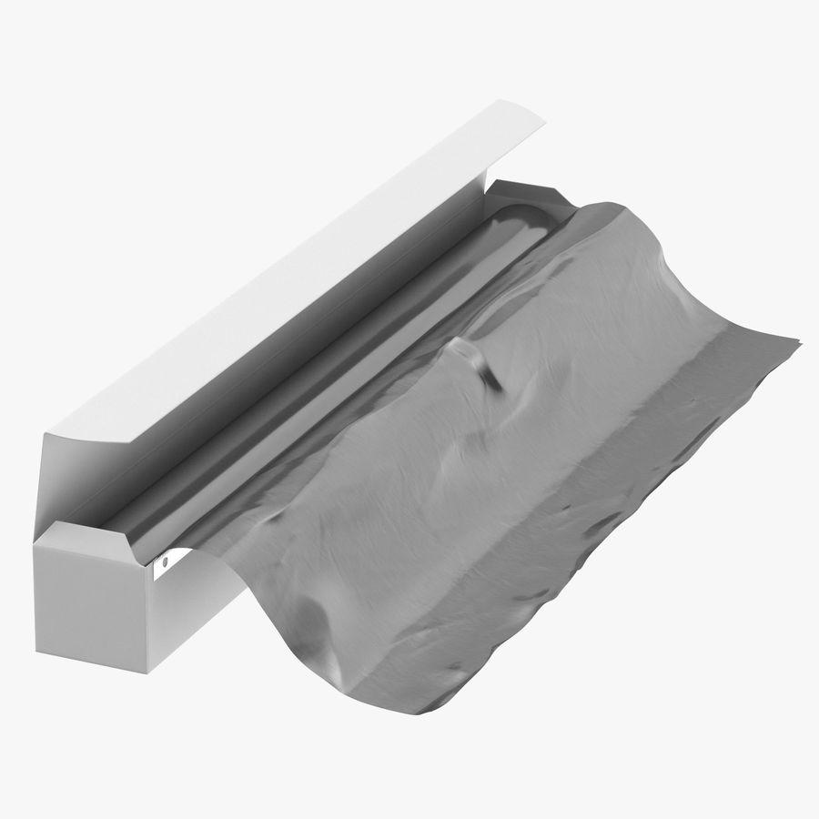Aluminium Foil Box Open royalty-free 3d model - Preview no. 1