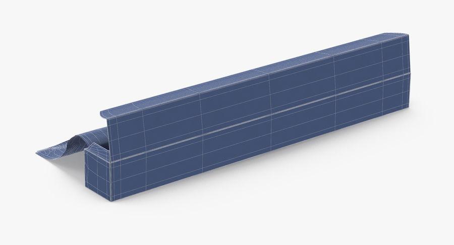 Aluminium Foil Box Open royalty-free 3d model - Preview no. 14