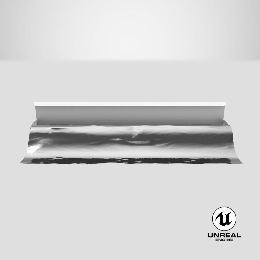 Aluminium Foil Box Open royalty-free 3d model - Preview no. 23