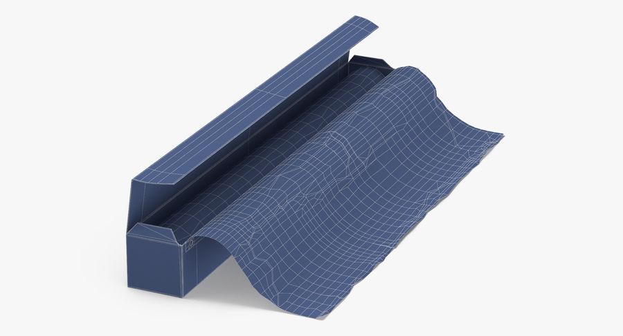 Aluminium Foil Box Open royalty-free 3d model - Preview no. 10