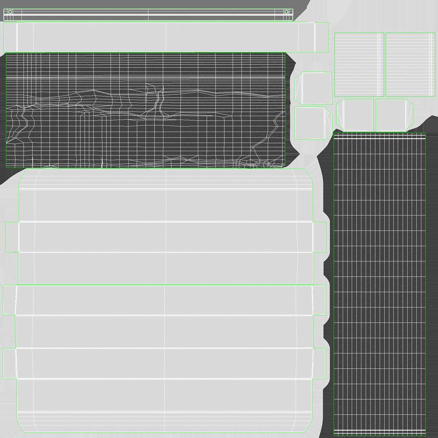 Aluminium Foil Box Open royalty-free 3d model - Preview no. 20