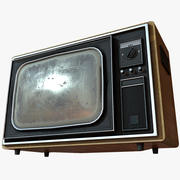 TV vieja PBR Low Poly modelo 3d