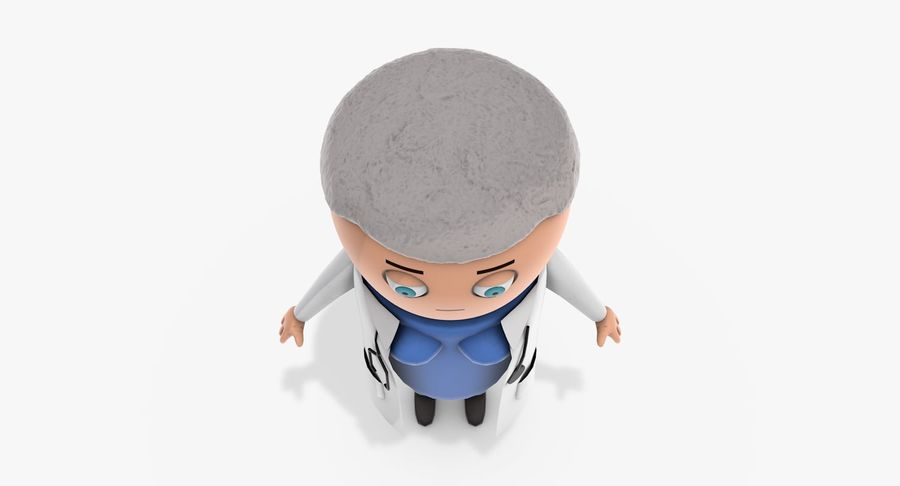Cartoon Doctor Female royalty-free 3d model - Preview no. 6