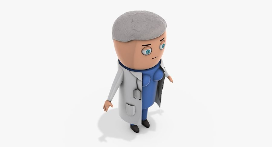 Cartoon Doctor Female royalty-free 3d model - Preview no. 8