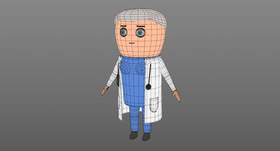 Cartoon Doctor Female royalty-free 3d model - Preview no. 11