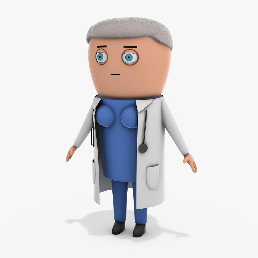 Cartoon Doctor Female royalty-free 3d model - Preview no. 1