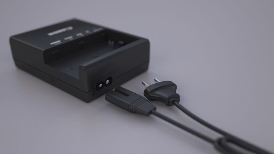CANON BATTERY CHARGER royalty-free 3d model - Preview no. 2