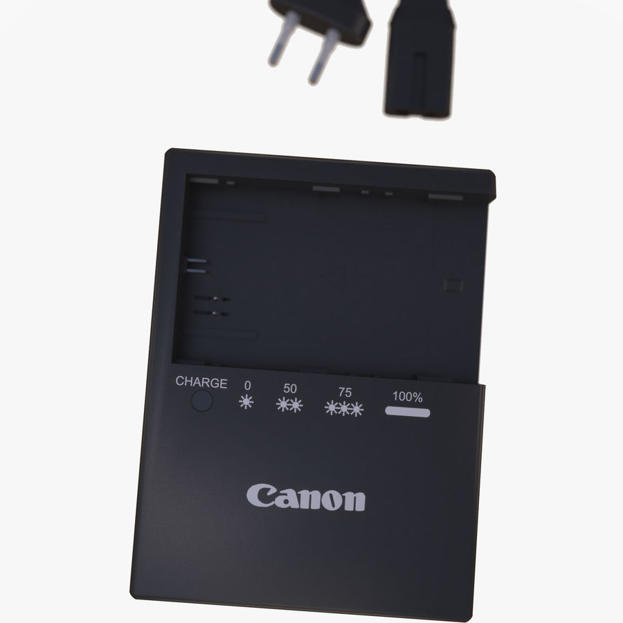 CANON BATTERY CHARGER royalty-free 3d model - Preview no. 8