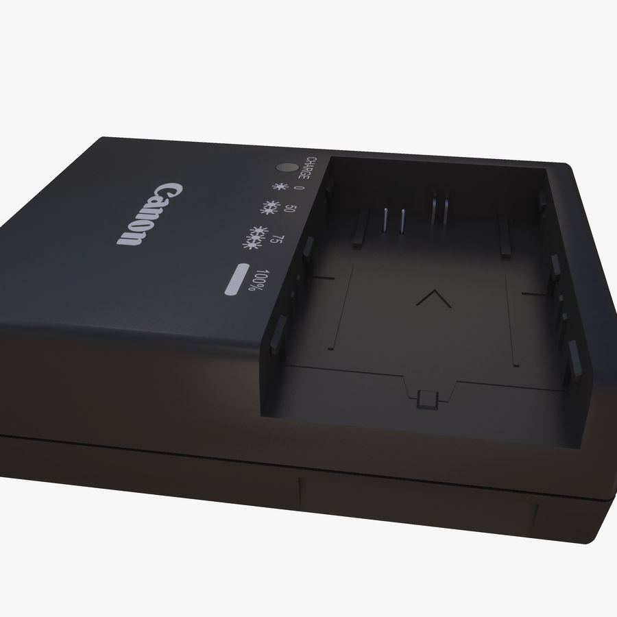 CANON BATTERY CHARGER royalty-free 3d model - Preview no. 4