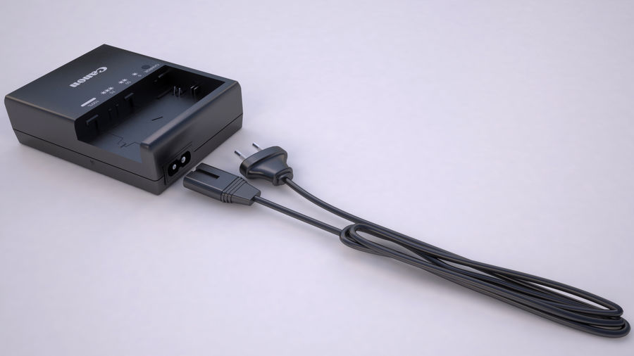 CANON BATTERY CHARGER royalty-free 3d model - Preview no. 9