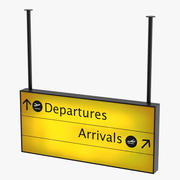 Airport Departure and Arrival Sign 3d model