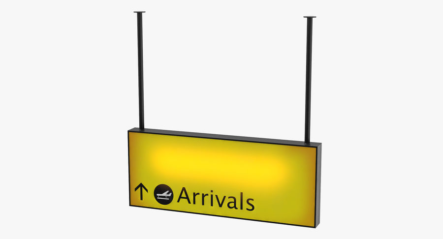Luchthaven aankomst teken royalty-free 3d model - Preview no. 2