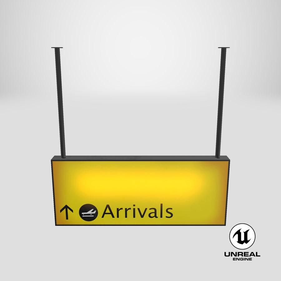 Luchthaven aankomst teken royalty-free 3d model - Preview no. 21