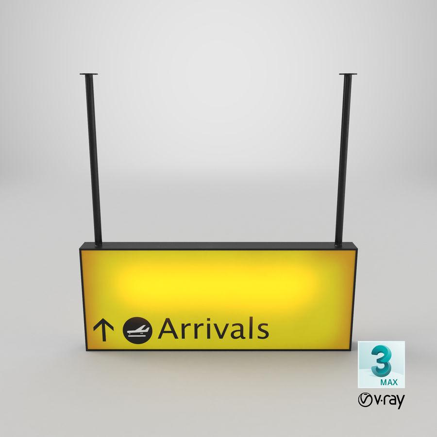 Luchthaven aankomst teken royalty-free 3d model - Preview no. 20