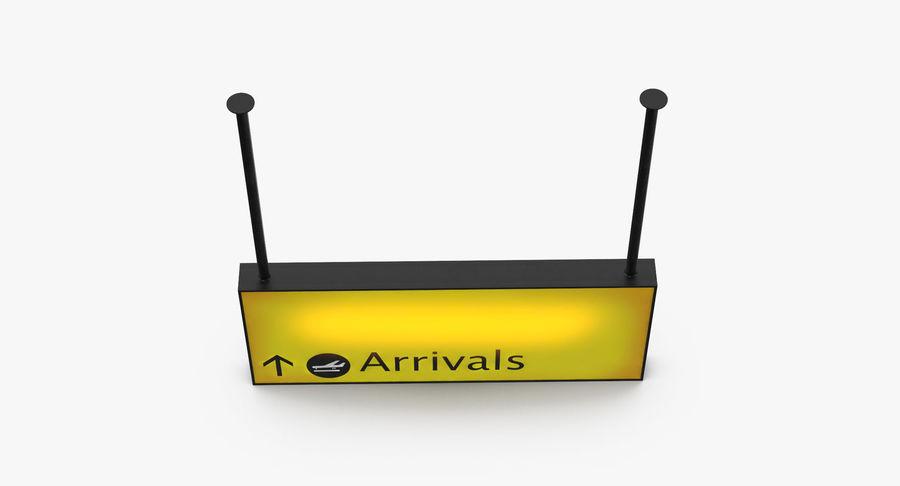 Luchthaven aankomst teken royalty-free 3d model - Preview no. 11