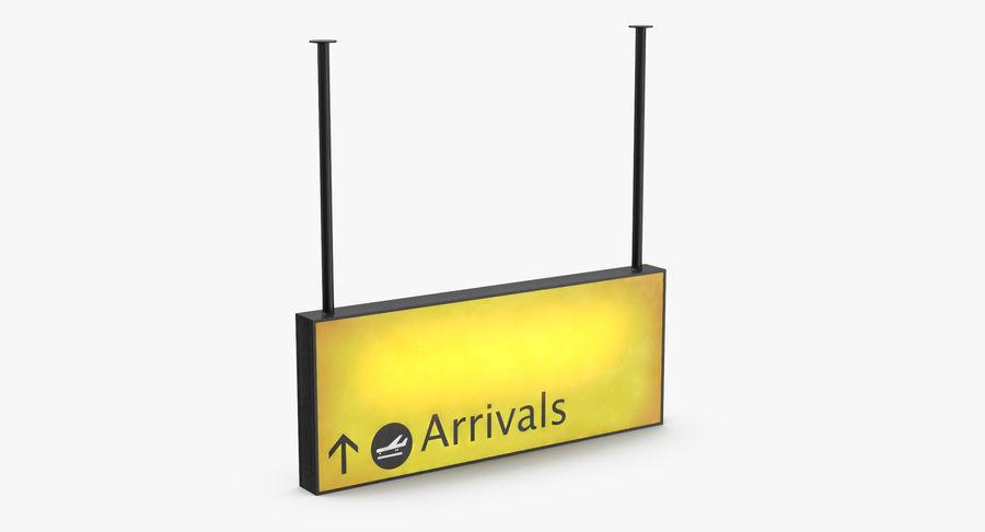 Luchthaven aankomst teken royalty-free 3d model - Preview no. 5