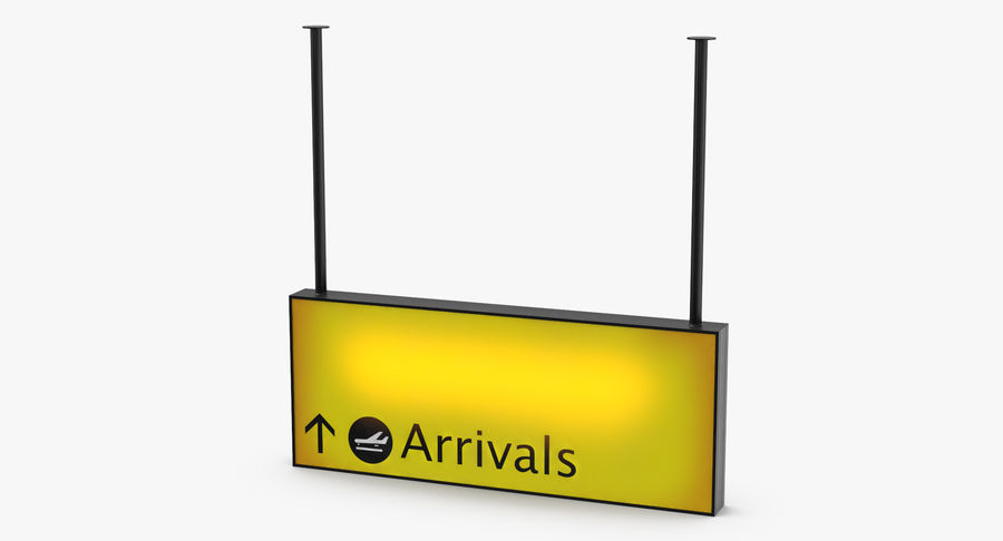 Luchthaven aankomst teken royalty-free 3d model - Preview no. 3