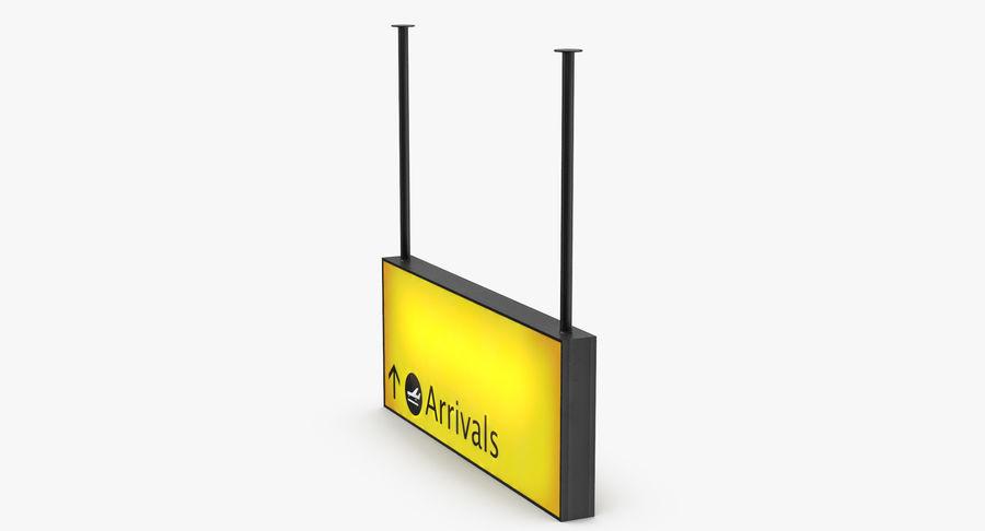 Luchthaven aankomst teken royalty-free 3d model - Preview no. 4