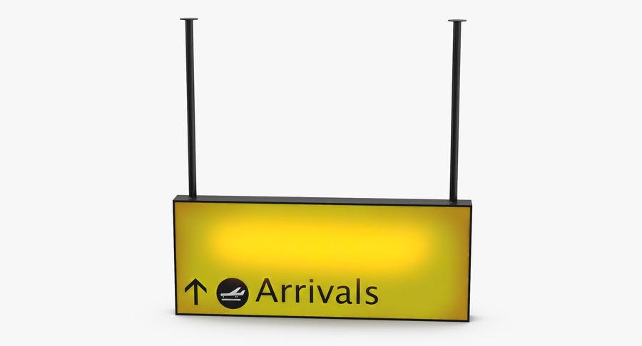 Luchthaven aankomst teken royalty-free 3d model - Preview no. 9