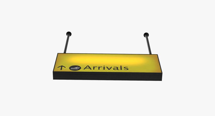 Luchthaven aankomst teken royalty-free 3d model - Preview no. 14