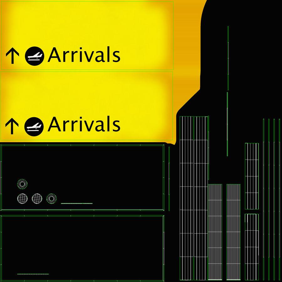 Luchthaven aankomst teken royalty-free 3d model - Preview no. 19