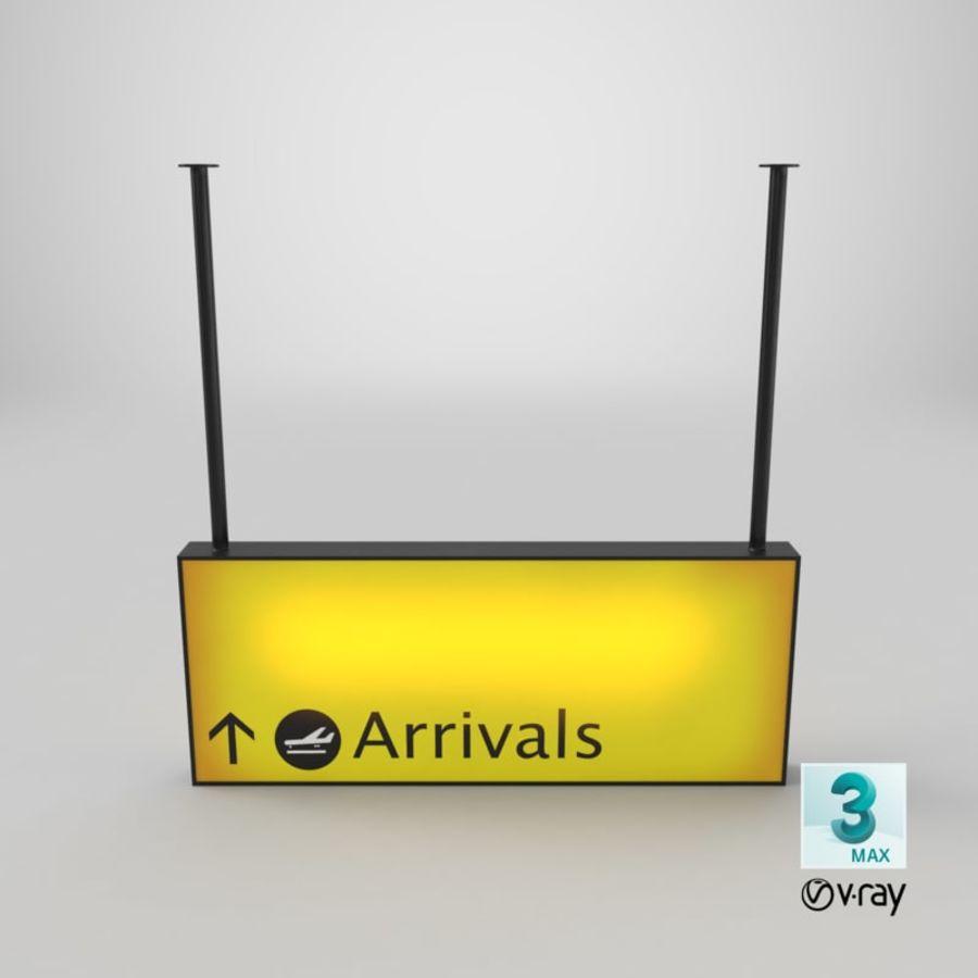 Luchthaven aankomst teken royalty-free 3d model - Preview no. 30