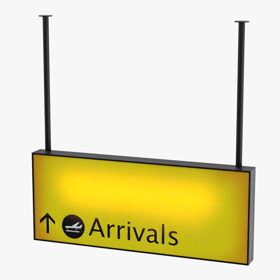 Luchthaven aankomst teken royalty-free 3d model - Preview no. 1