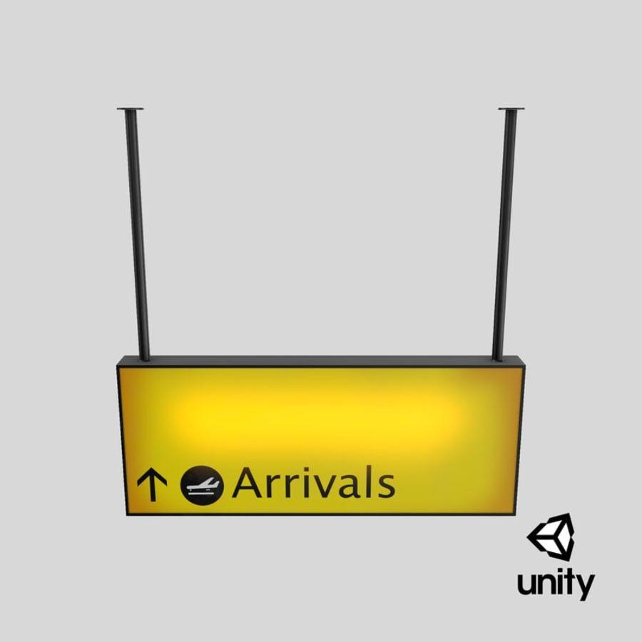 Luchthaven aankomst teken royalty-free 3d model - Preview no. 32
