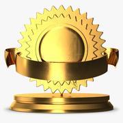 Trophy 5 Medal 1 3d model