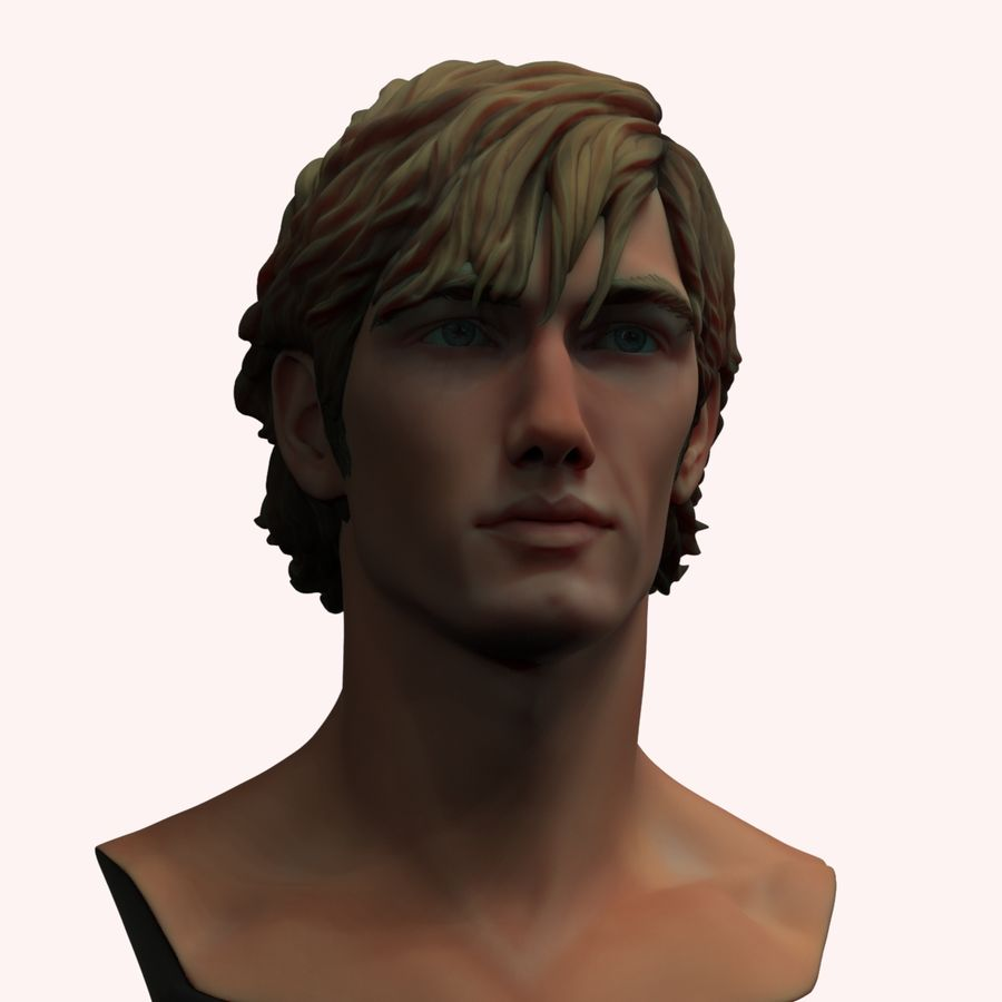 Alex Pettyfer Textured royalty-free 3d model - Preview no. 3