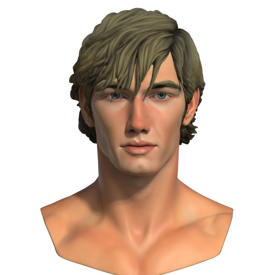 Alex Pettyfer Textured royalty-free 3d model - Preview no. 6