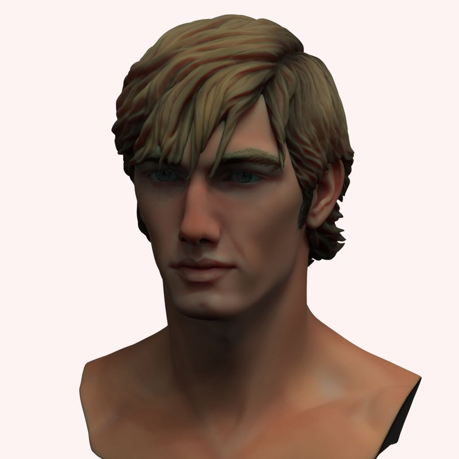 Alex Pettyfer Textured royalty-free 3d model - Preview no. 4